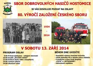 pozvánka na slavnosti a soutěže 13.9.2014